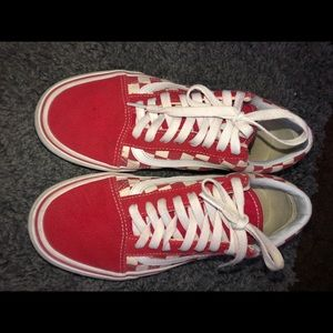 Old skool red checkered vans